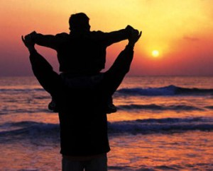 father-son-sunrise